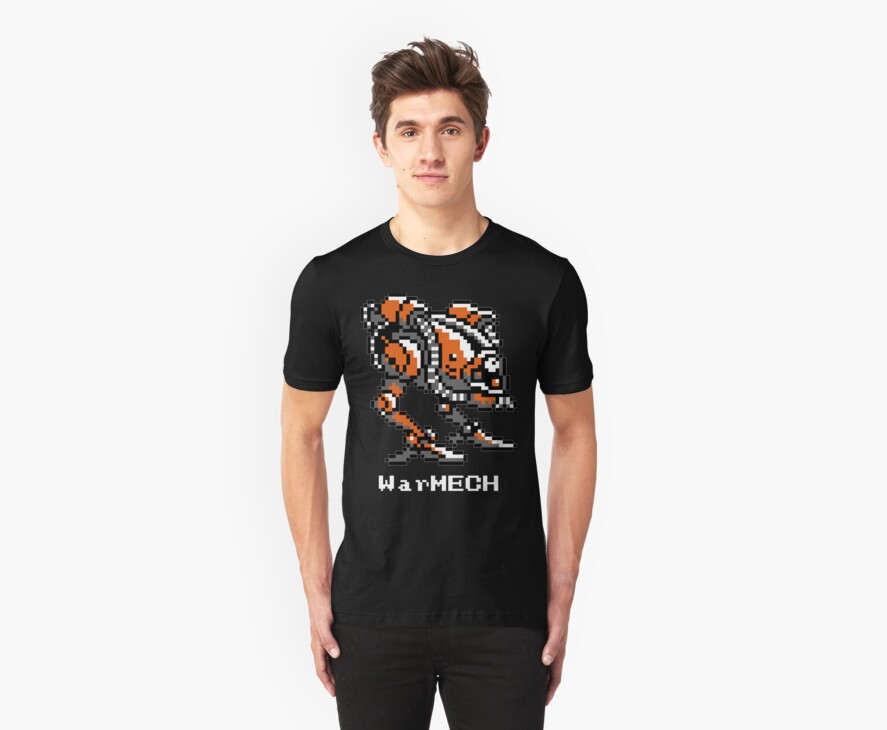 WarMECH Final Fantasy 1 NES TeeShirt for BLACK by kalitarios