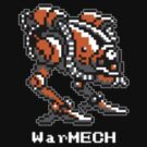 WarMECH Final Fantasy 1 NES TeeShirt - small logo - for BLACK by kalitarios