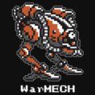 WarMECH Final Fantasy 1 NES TeeShirt - small logo - for BLACK by kalitarios