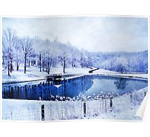 Peaceful Winters Day Poster