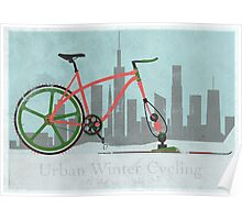 Urban Winter Cycling Poster