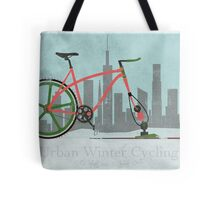Urban Winter Cycling Tote Bag