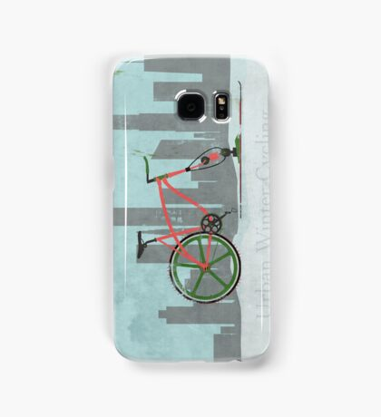 Urban Winter Cycling Samsung Galaxy Case/Skin