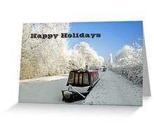 Card - Ice-bound Narrowboats  Greeting Card