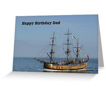 Card - Bark Endeavour, Whitby  Greeting Card