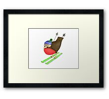 Skiing Robin Framed Print