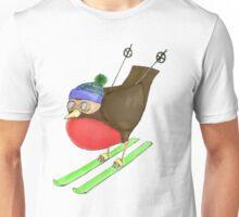 Skiing Robin Unisex T-Shirt