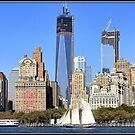 Schooner Off Lower Manhattan by Mikell Herrick