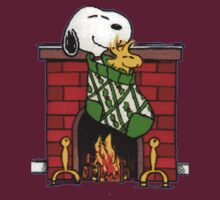 Snoopy and Christmas Fireplace by gemzi-ox