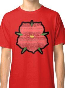 Scarlet Pimpernel - Sir Percy Blakeney's Poem Classic T-Shirt