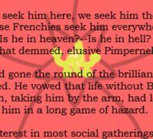 Scarlet Pimpernel - Sir Percy Blakeney's Poem Sticker