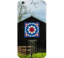 Kentucky Barn Quilt - Carpenters Wheel iPhone Case/Skin