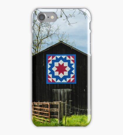Kentucky Barn Quilt - Carpenters Wheel iPhone Case/Skin