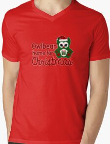 Owlbear Home for Christmas - Gamer Christmas  Mens V-Neck T-Shirt