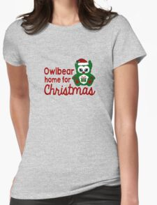 Owlbear Home for Christmas - Gamer Christmas  Womens Fitted T-Shirt