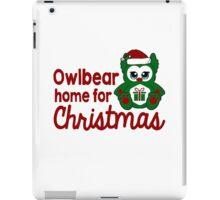Owlbear Home for Christmas - Gamer Christmas  iPad Case/Skin