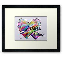 American Sign Language - That's Amore! Framed Print