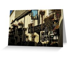 The London Inn, Padstow, Cornwall. England. Greeting Card