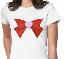 Super Sailor Mini Moon Bow (Simple Brooch) Womens Fitted T-Shirt