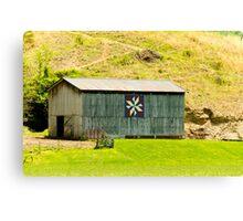 Kentucky Barn Quilt - Americana Star Canvas Print