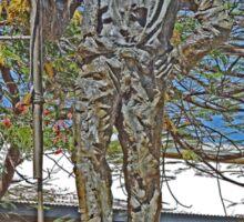 Statue, Jack Jugarie, Halls Creek, Kimberley, Western Australia Sticker