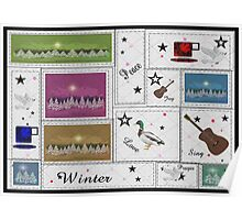 Winter Quilting Poster
