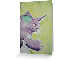 Nidoking [watercolour] Greeting Card