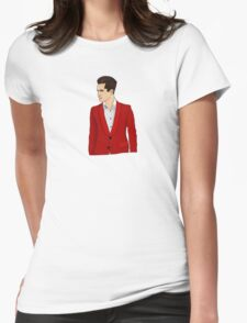 Red Suit Womens Fitted T-Shirt
