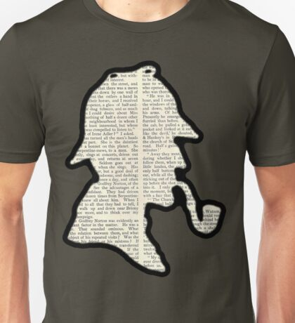 Classic Sherlock Holmes Silhouette - Scandal in Bohemia Unisex T-Shirt