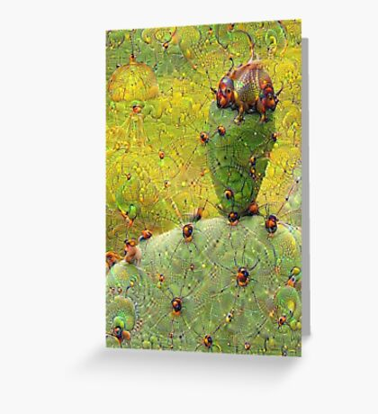 Cactus Machine Dreams Greeting Card