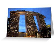 Marina Bay Sands Hotel, Singapore, at Sunset Greeting Card