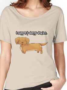 Derpy Doxies (Brown) Women's Relaxed Fit T-Shirt