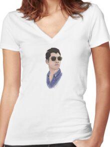 Sunglasses  Women's Fitted V-Neck T-Shirt