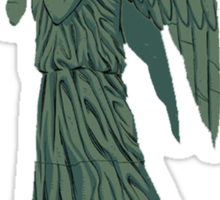 weeping angel, filled in Sticker
