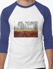Outback lakeview, off highway between Lightning Ridge and Moree, NSW Men's Baseball ¾ T-Shirt