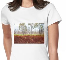 Outback lakeview, off highway between Lightning Ridge and Moree, NSW Womens Fitted T-Shirt