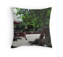 Time for a coffee break & to reflect! Royal Adelaide Hospital Forecourt. Throw Pillow