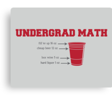 Undergrad Math Canvas Print