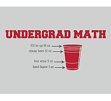 Undergrad Math Photographic Print