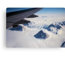 The Antarctic Continent from the Air Canvas Print