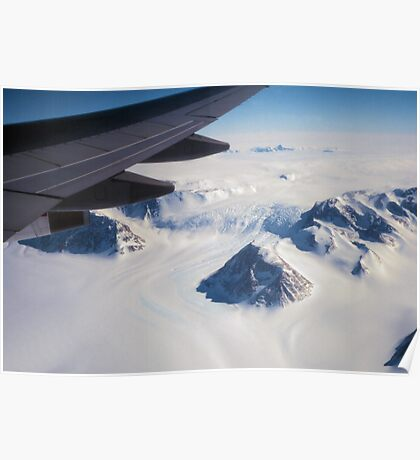 The Antarctic Continent from the Air Poster