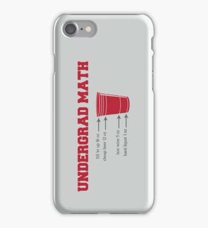 Undergrad Math iPhone Case/Skin