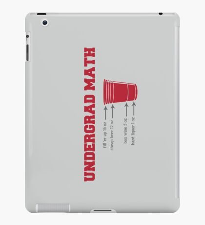 Undergrad Math iPad Case/Skin