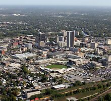 Downtown Fort Wayne, Indiana, From the Air by John McGauley