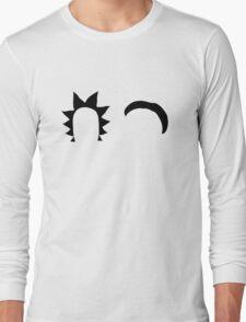 Rick & Morty minimalist (black) Long Sleeve T-Shirt