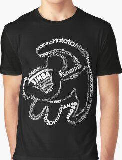 Simba Typo B&W Graphic T-Shirt