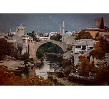 Postcard from Mostar Photographic Print