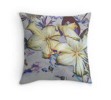 Wilted Lilies Throw Pillow