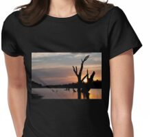 St George sunset Womens Fitted T-Shirt