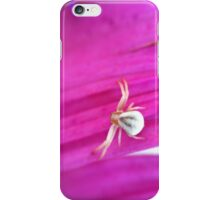 Tiny Spider on a Pink Flower iPhone Case/Skin